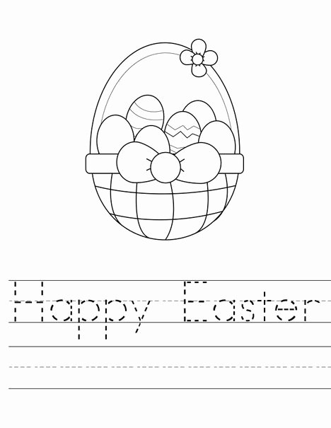 Easter themed Worksheets for Preschoolers Best Of Easter Preschool Worksheets Best Coloring Pages for Kids
