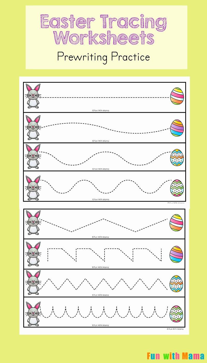 Easter themed Worksheets for Preschoolers Fresh Easter Tracing Worksheets for Preschoolers Fun with Mama