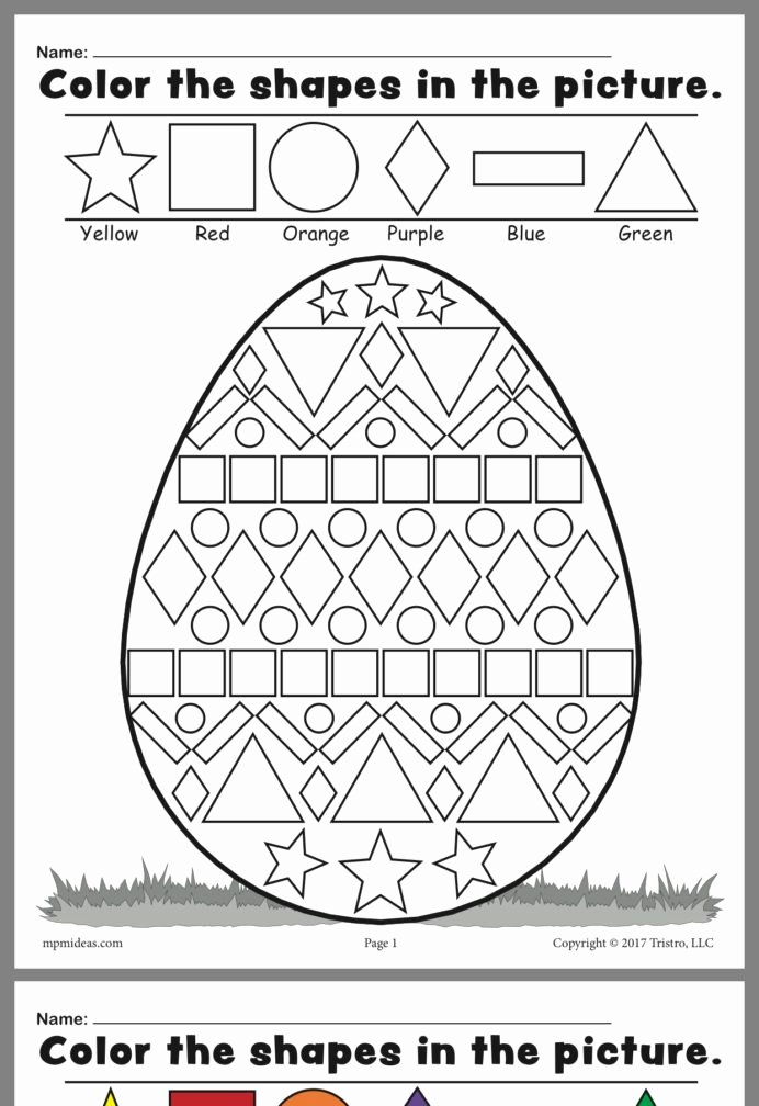 Easter themed Worksheets for Preschoolers Ideas Pin by Alison Easter Worksheets Shapes Best for First