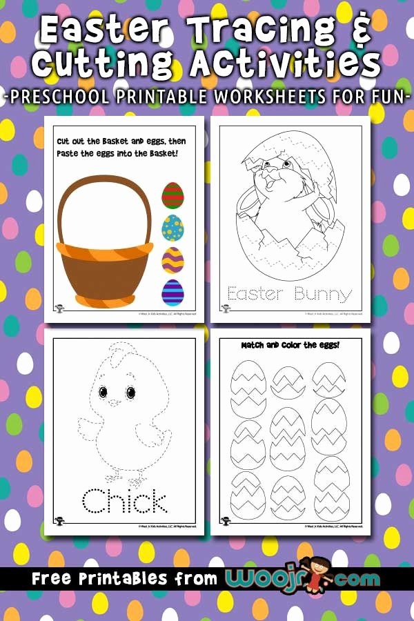 Easter themed Worksheets for Preschoolers New Easter Tracing Worksheets and Printable Activities for Kids