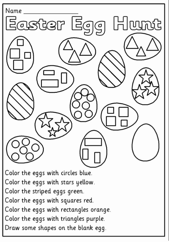 Easter themed Worksheets for Preschoolers top Happy Easter Worksheet for Kids Preschool and Kindergarten
