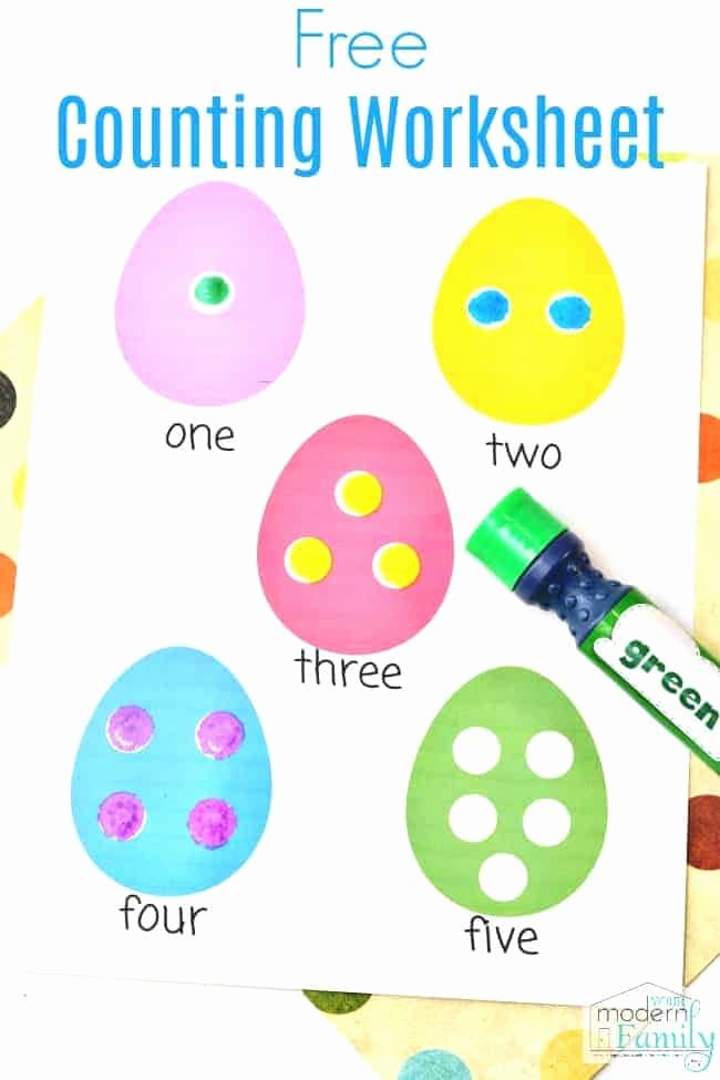 Easter Worksheets for Preschoolers Free Easter Worksheets for Preschoolers or Kindergarteners Math