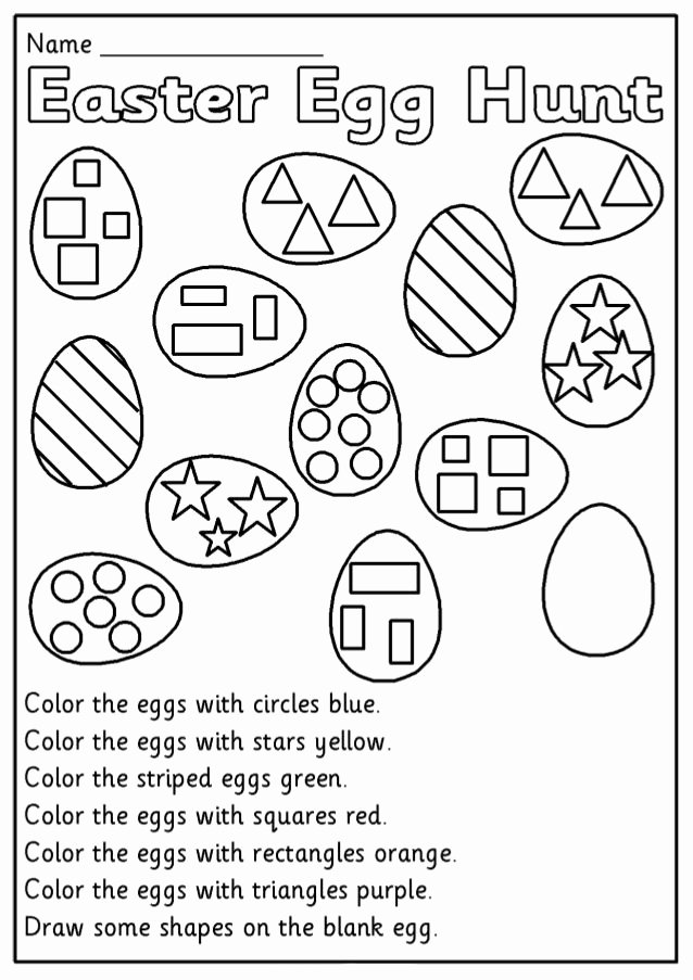 Easter Worksheets for Preschoolers Lovely Easter Kindergarten Worksheets with Images