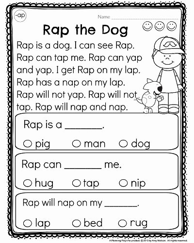 Easy Reading Worksheets for Preschoolers New Kindergarten Reading Prehension Passages Planning