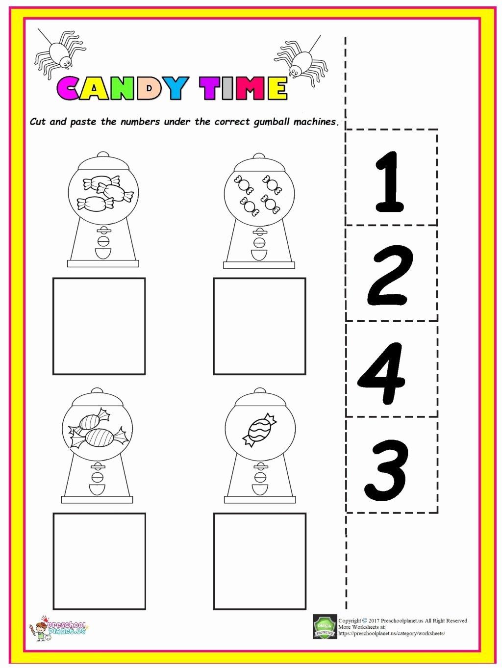 Easy Worksheets for Preschoolers Ideas Worksheet Easy Candy Counting Worksheet Preschool Homework