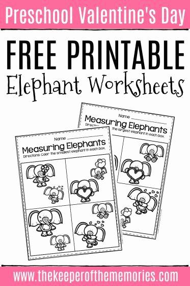 Elephant Worksheets for Preschoolers Fresh Free Printable Elephant Valentine S Day Worksheets the