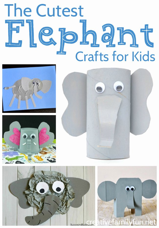 Elephant Worksheets for Preschoolers Printable Fun Elephant Crafts for Kids Creative Family Fun