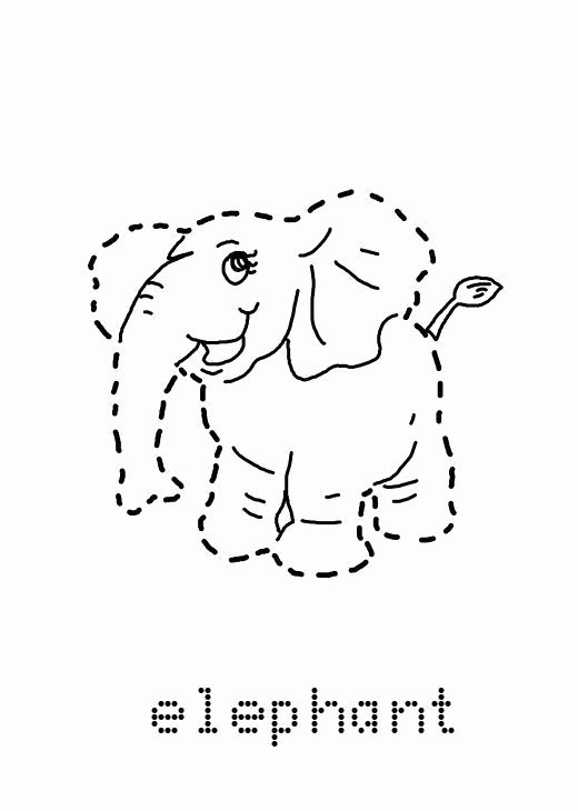 Elephant Worksheets for Preschoolers Printable Preschool Elephant Tracing Worksheet