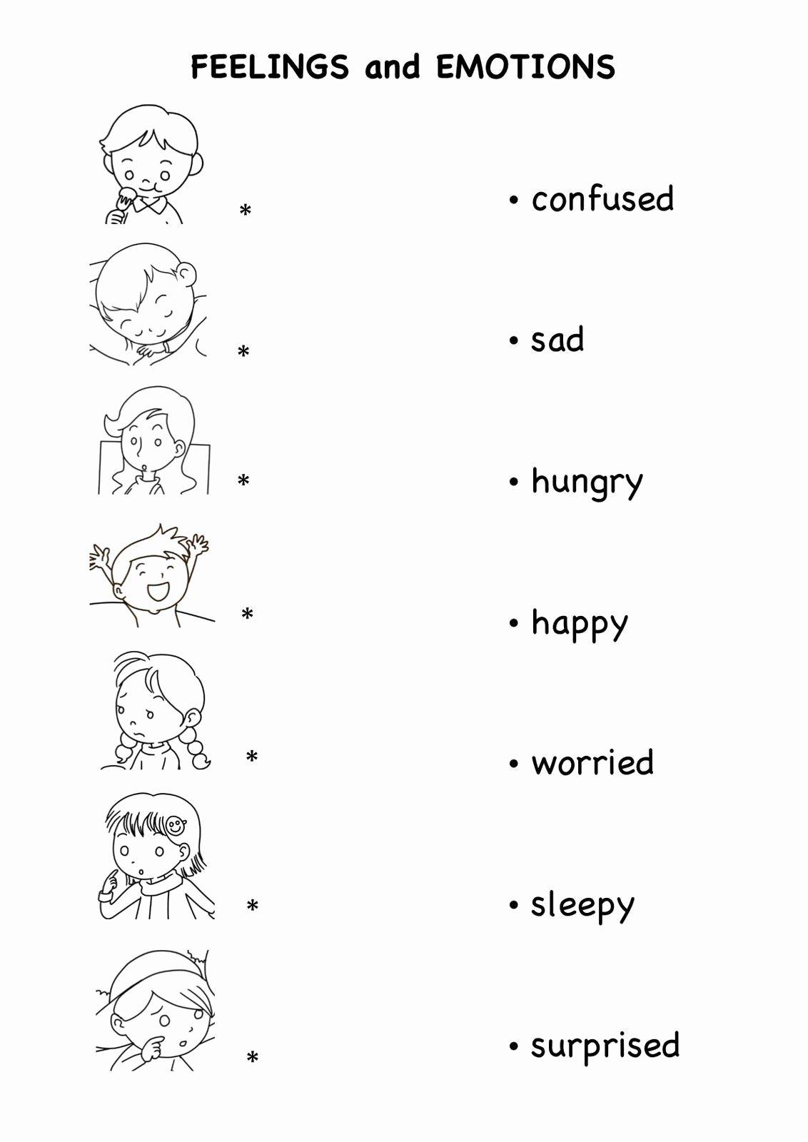 Emotion Worksheets for Preschoolers top Feelings and Emotions Worksheets Printable Worksheets