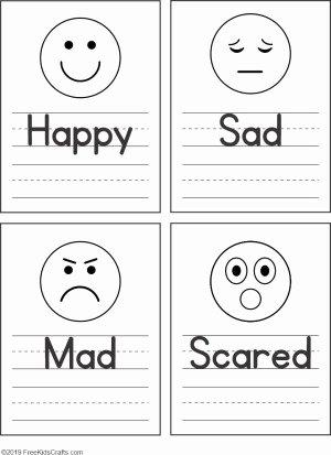 Emotions Worksheets for Preschoolers Lovely Feelings Faces Worksheet for Preschoolers
