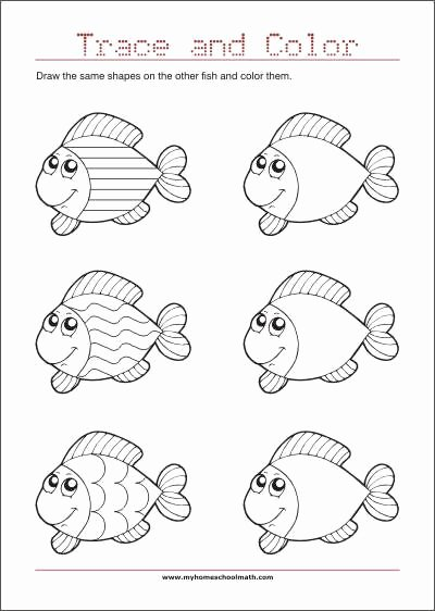 Eye Hand Coordination Worksheets for Preschoolers top Drawing and Copying Pictures or Shapes is Excellent to