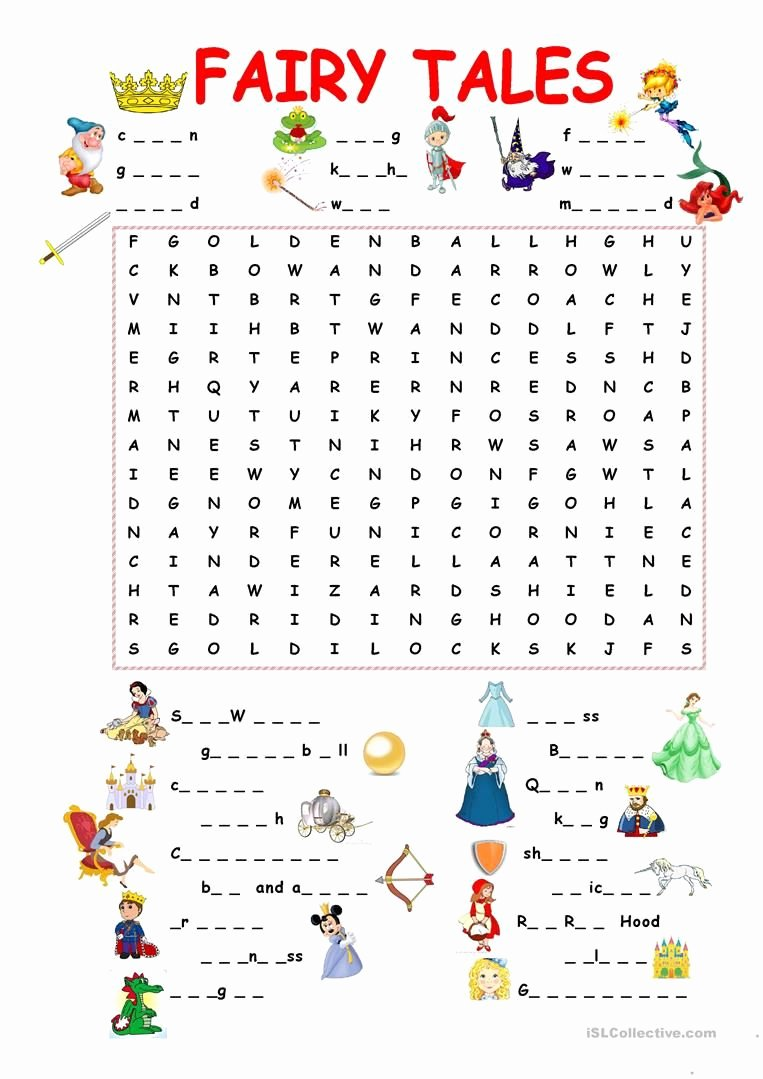 Fairy Tales Worksheets for Preschoolers Inspirational 45 Free Esl Fairy Tales Worksheets