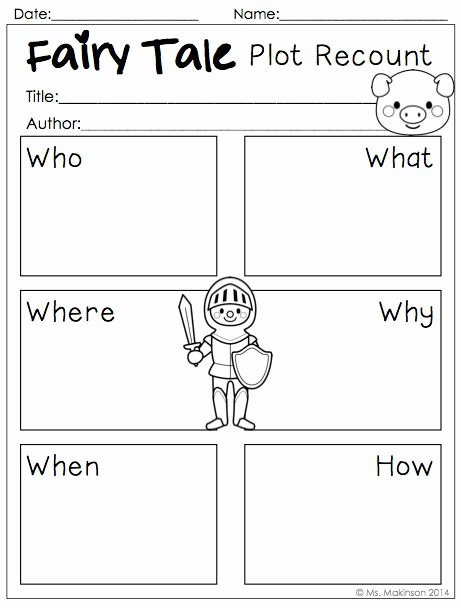 Fairy Tales Worksheets for Preschoolers Inspirational Fairy Tale Printables to Be Used with Any Fairy Tale