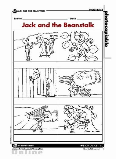 Fairy Tales Worksheets for Preschoolers Printable and the Beanstalk Sequence Fairy Tale Activities Worksheets