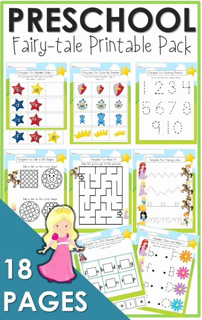 Fairy Tales Worksheets for Preschoolers Printable the Relaxed Homeschool Homeschooling Family and More