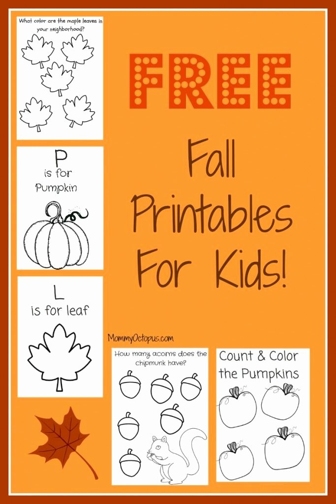 Fall Printable Worksheets for Preschoolers Lovely Free Fall Printable Activity Sheets Mommy Octopus