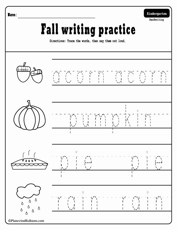Fall Worksheets for Preschoolers Free Ideas 10 Fall Worksheets Kindergarten Teachers and Students