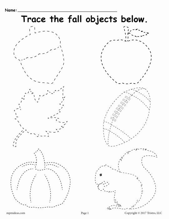 Fall Worksheets for Preschoolers Free New Printable Fall Tracing Worksheet