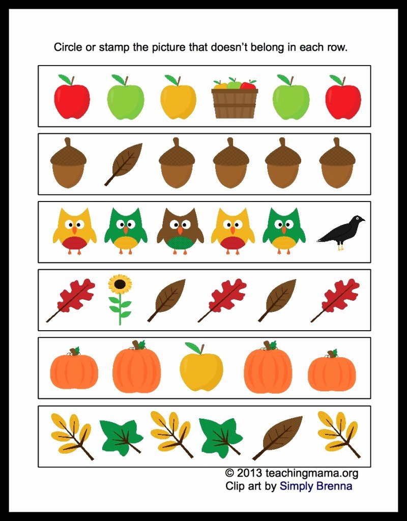 Fall Worksheets for Preschoolers New Different 800x1024s for Preschool Free Fall Coloring Sheets