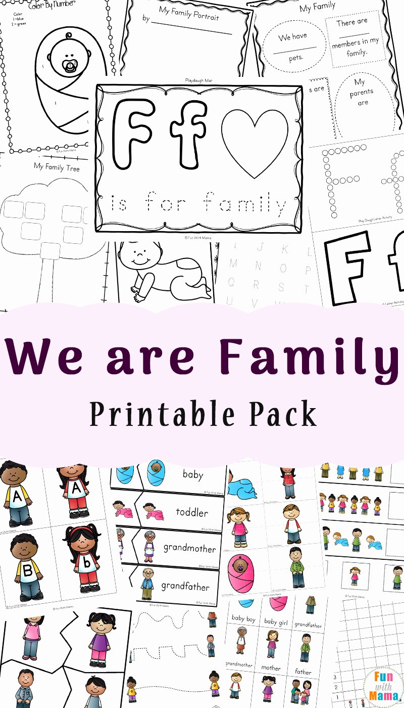 Family Worksheets for Preschoolers Best Of Family theme Preschool and Family Worksheets for
