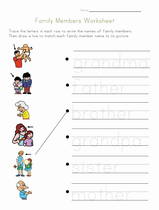 Family Worksheets for Preschoolers Free Family Members Worksheet