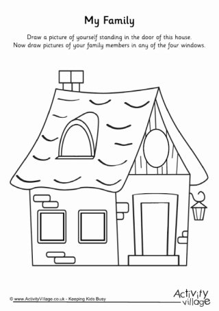 Family Worksheets for Preschoolers Kids My Family topic Printables for Children