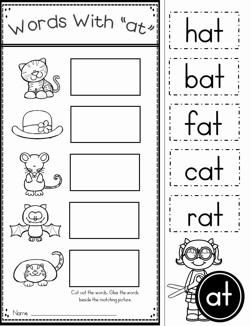 Family Worksheets for Preschoolers top Free Word Family at Practice Printables and Activities