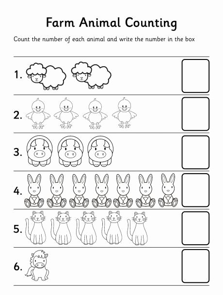 Farm Animals Math Worksheets for Preschoolers Inspirational Printable Worksheets