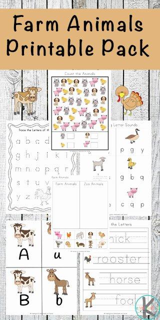 Farm Animals Worksheets for Preschoolers Lovely Free Farm Animals Worksheets