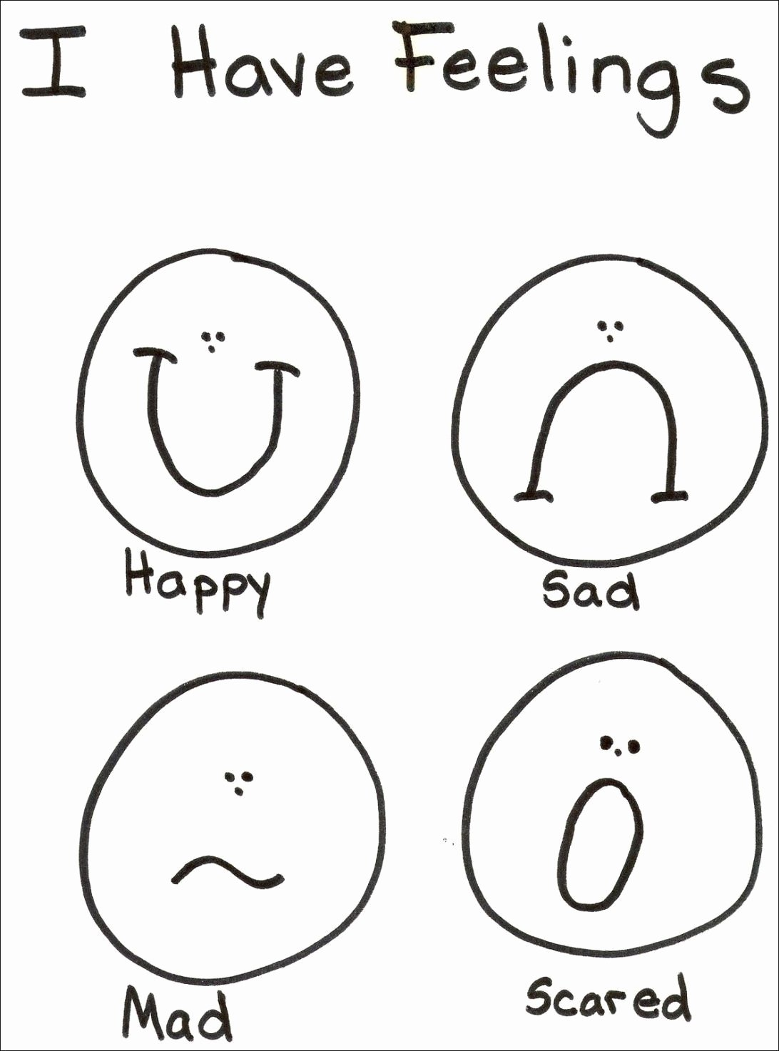 Feelings and Emotions Worksheets for Preschoolers Free Feelings and Emotions Worksheets Printable top 12 Fantastic