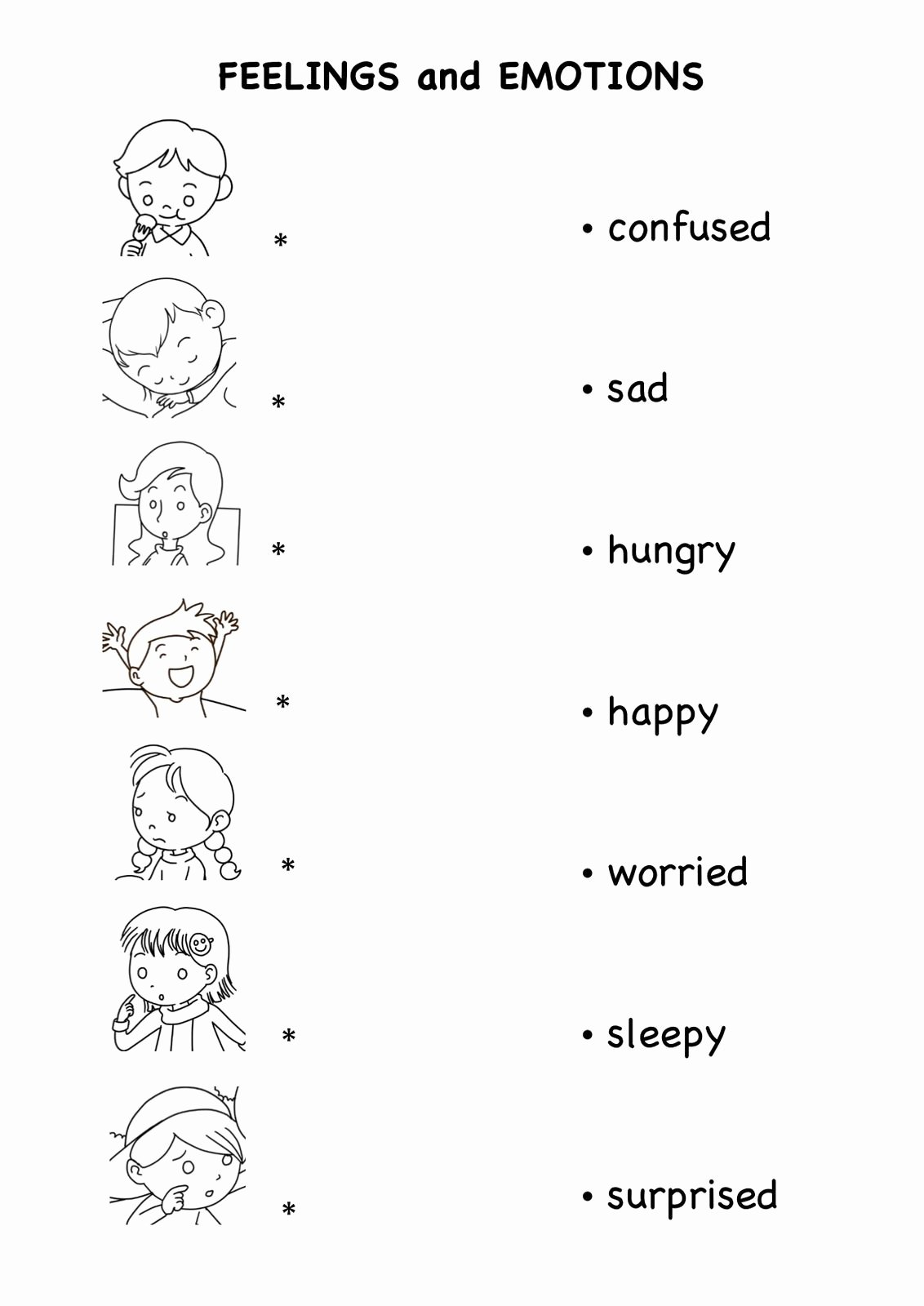 Feelings and Emotions Worksheets for Preschoolers Ideas Emotions Worksheets Pdf