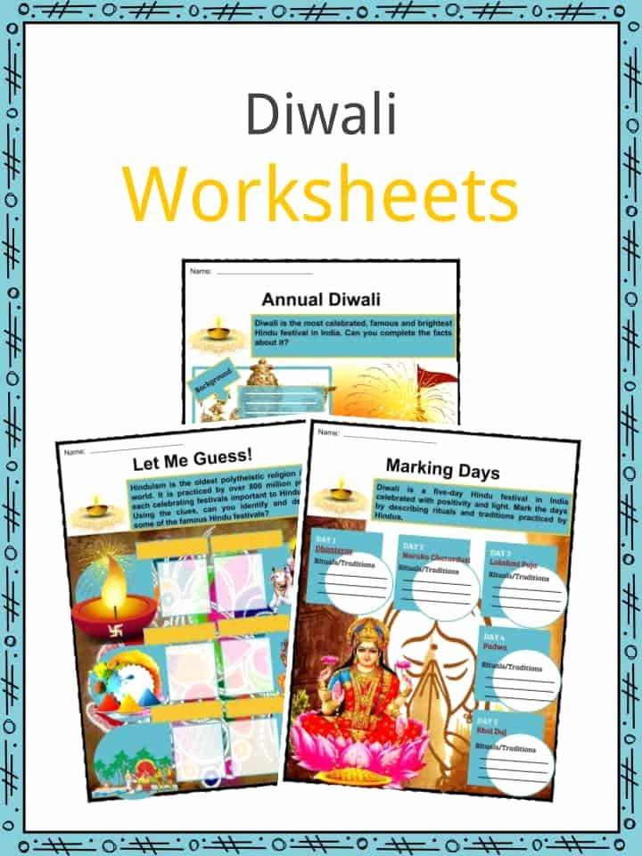 Festival Worksheets for Preschoolers Printable Diwali Facts Worksheets Etymology Observances & Traditions