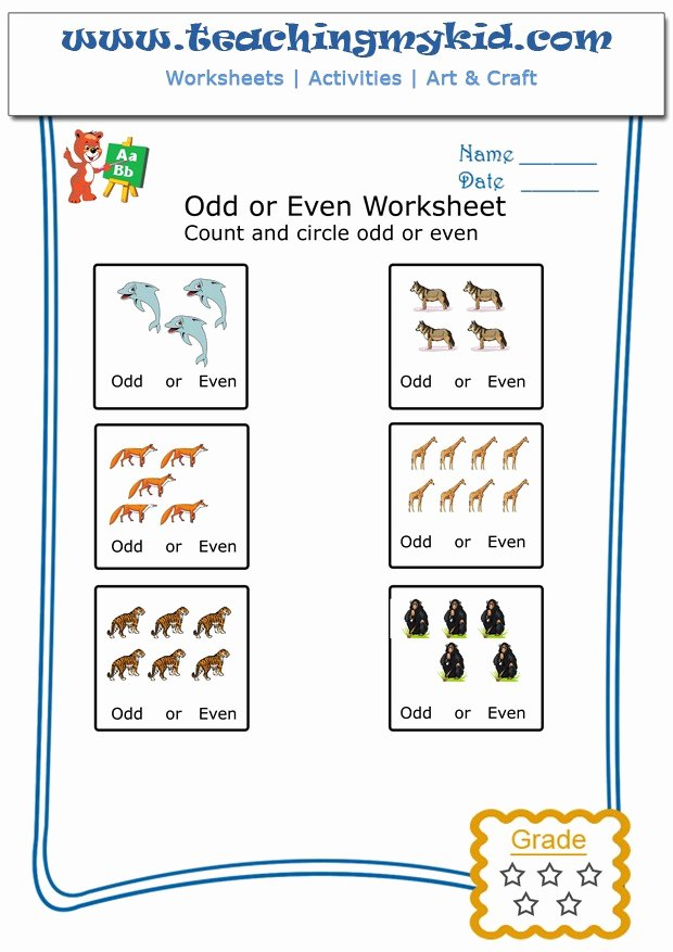 Few and Many Worksheets for Preschoolers Best Of Printable Kindergarten Math Worksheets Count & Circle Odd