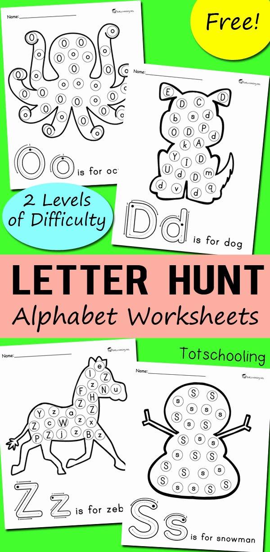 Find the Letter Worksheets for Preschoolers Inspirational Alphabet Letter Hunt Worksheets