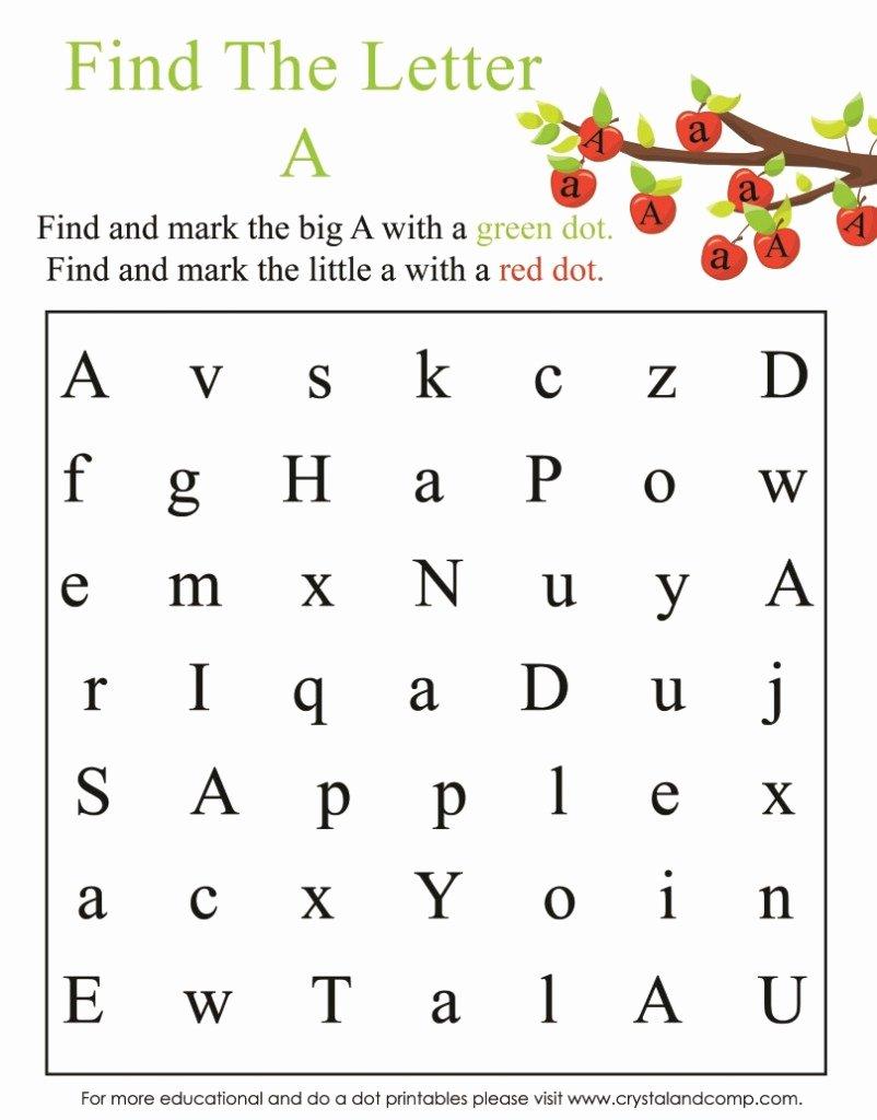 Find the Letter Worksheets for Preschoolers Kids Math Worksheet Marvelous Letter Worksheets for Pre K