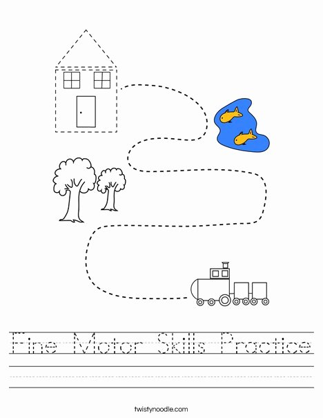 Fine Motor Skills Worksheets for Preschoolers Best Of Fine Motor Skills Practice Worksheet Twisty Noodle