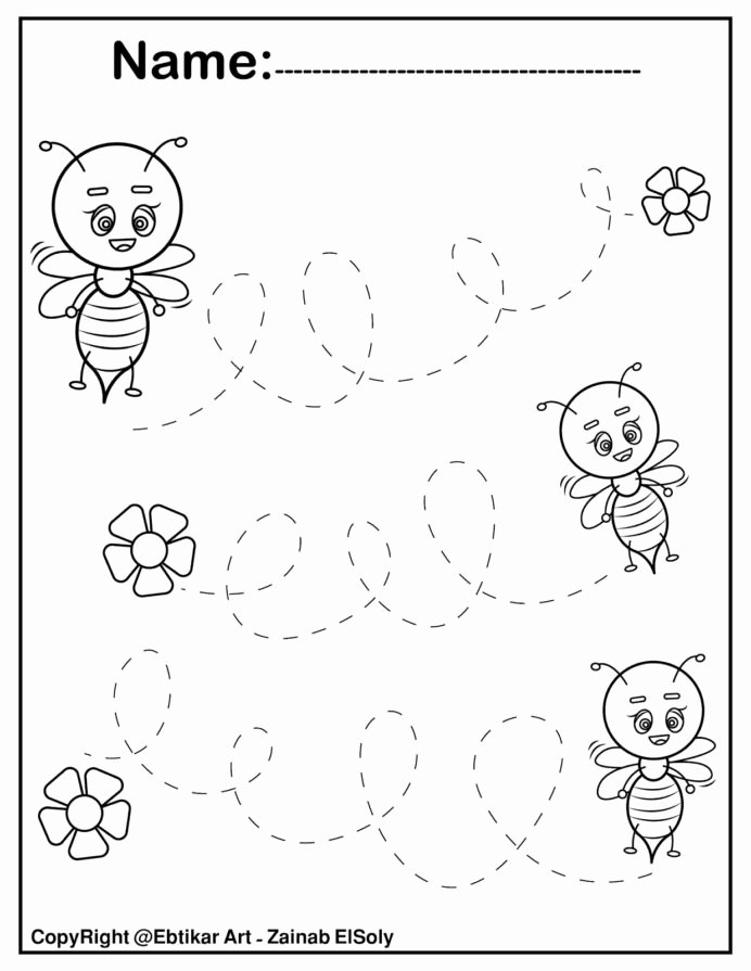 Fine Motor Worksheets for Preschoolers Inspirational Set Fine Motor Tracing Activity Preschool Practice