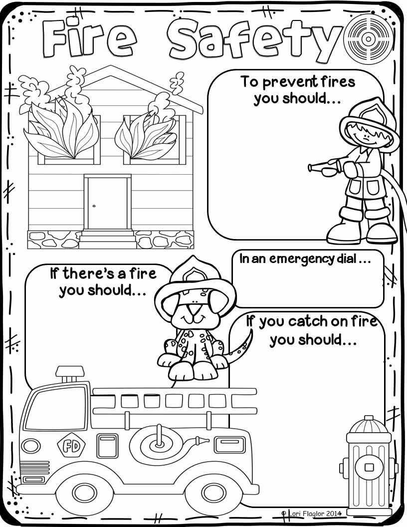 Fire Safety Worksheets for Preschoolers Ideas Fire Safety