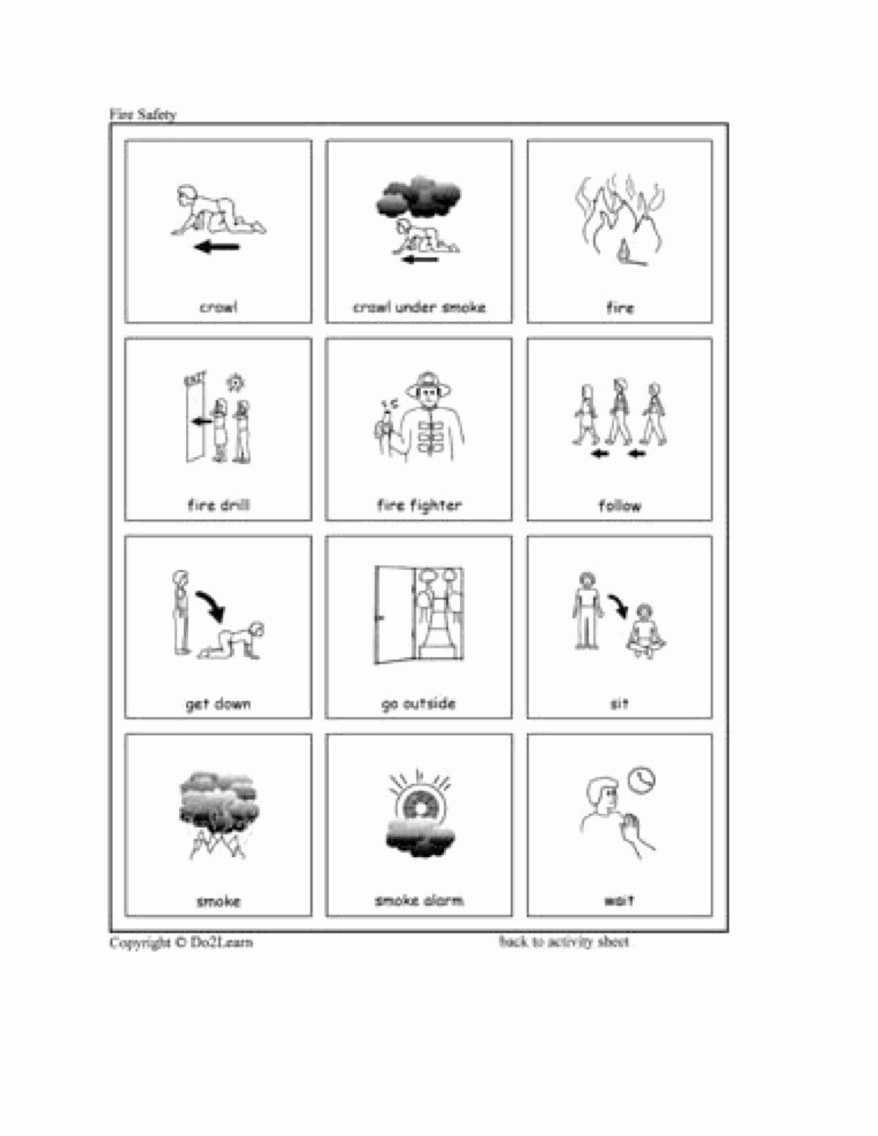 Fire Safety Worksheets for Preschoolers Kids Fire Safety