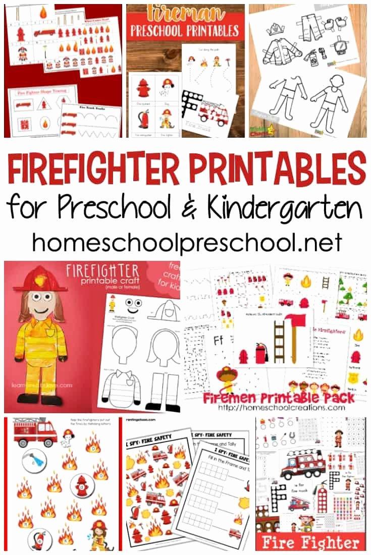 Firefighter Printable Worksheets for Preschoolers Best Of Free Firefighter Printables for Preschool and Kindergarten