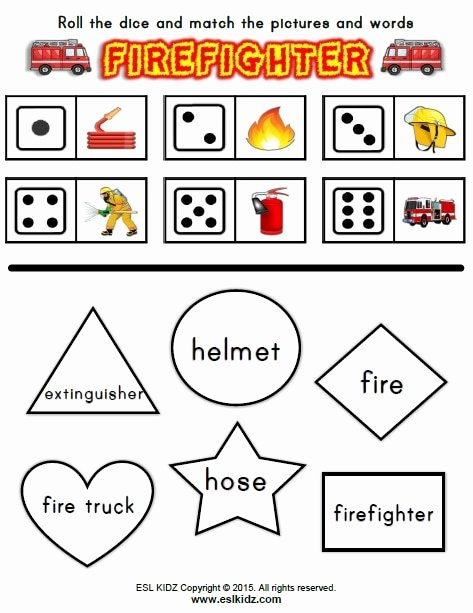 Firefighter Printable Worksheets for Preschoolers Fresh Firefighter Activities Games and Worksheets for Kids