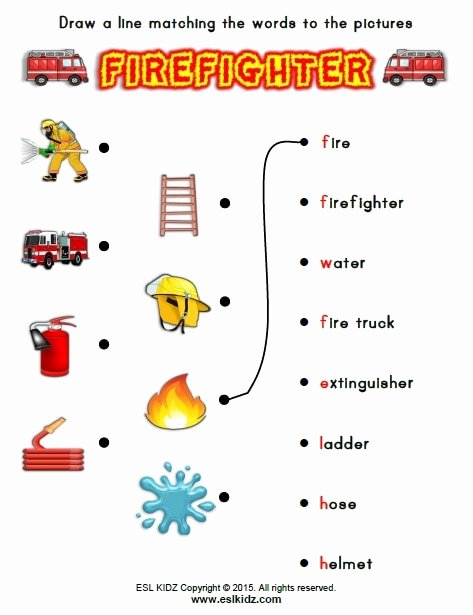 Firefighter Printable Worksheets for Preschoolers Kids Firefighter Activities Games and Worksheets for Kids