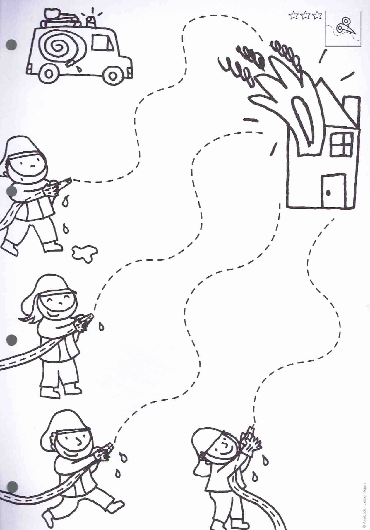 Firefighter Printable Worksheets for Preschoolers Kids Firefighter Craft Firemen Safetyrhpinterest Firefighter
