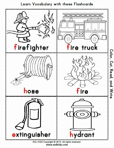 Firefighter Printable Worksheets for Preschoolers Lovely Firefighter Activities Games and Worksheets for Kids