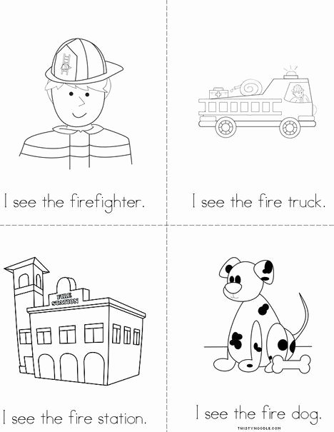 Firefighter Printable Worksheets for Preschoolers Lovely I See the Firefighter Mini Book