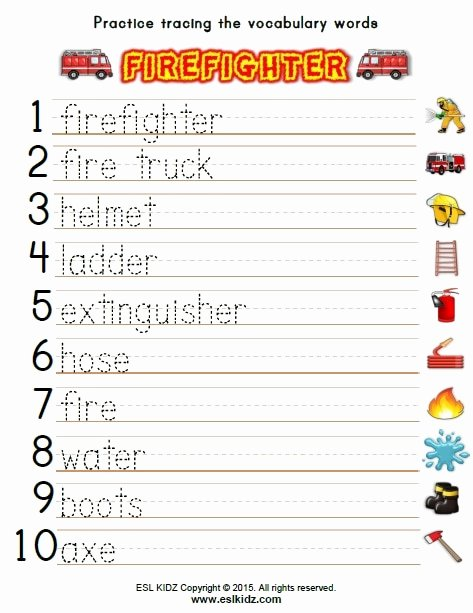 Firefighter Printable Worksheets for Preschoolers Printable Firefighter Activities Games and Worksheets for Kids Math