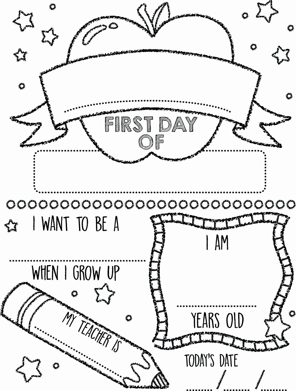 First Day Of School Worksheets for Preschoolers Ideas Printable Preschool Coloring Pages Summerst Day Kindergarten