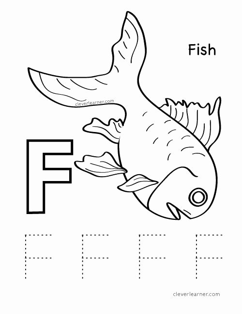 Fish Worksheets for Preschoolers Lovely Letter F is for Fish Preschool Worksheet