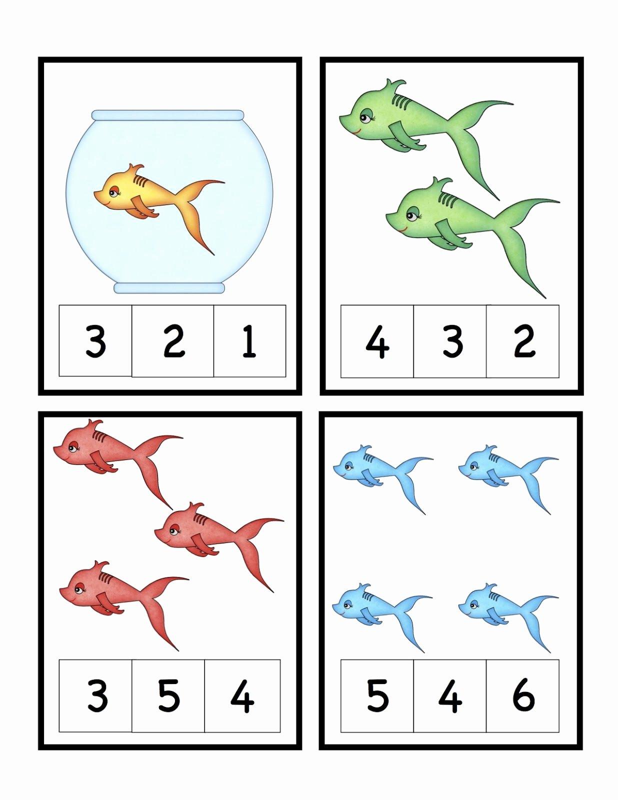 Fish Worksheets for Preschoolers Printable Preschool Printables Cute Fish Number Printable Seuss