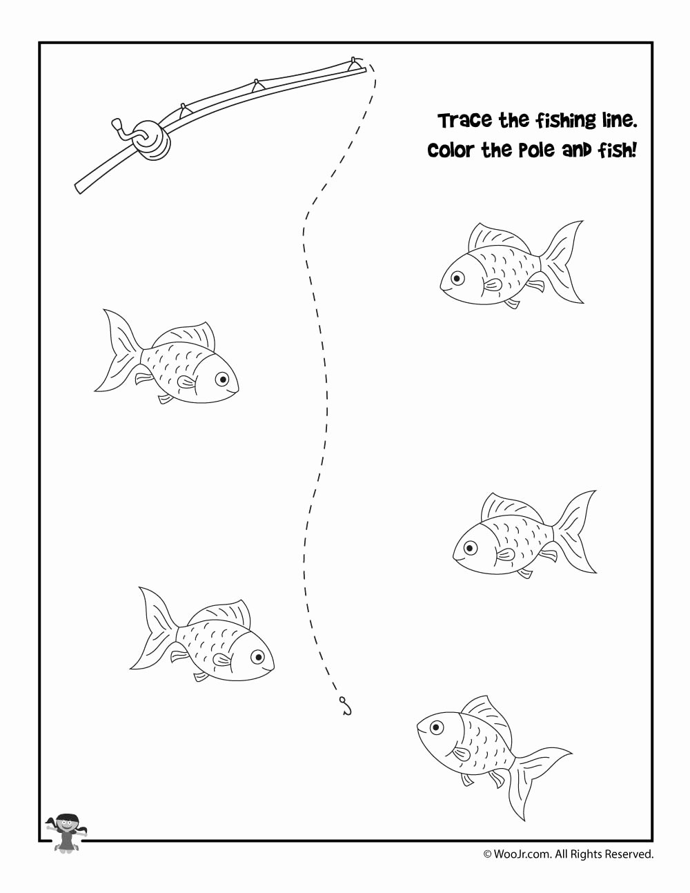 Fish Worksheets for Preschoolers Printable Worksheet Printingactice Worksheets Fish Tracing Worksheet